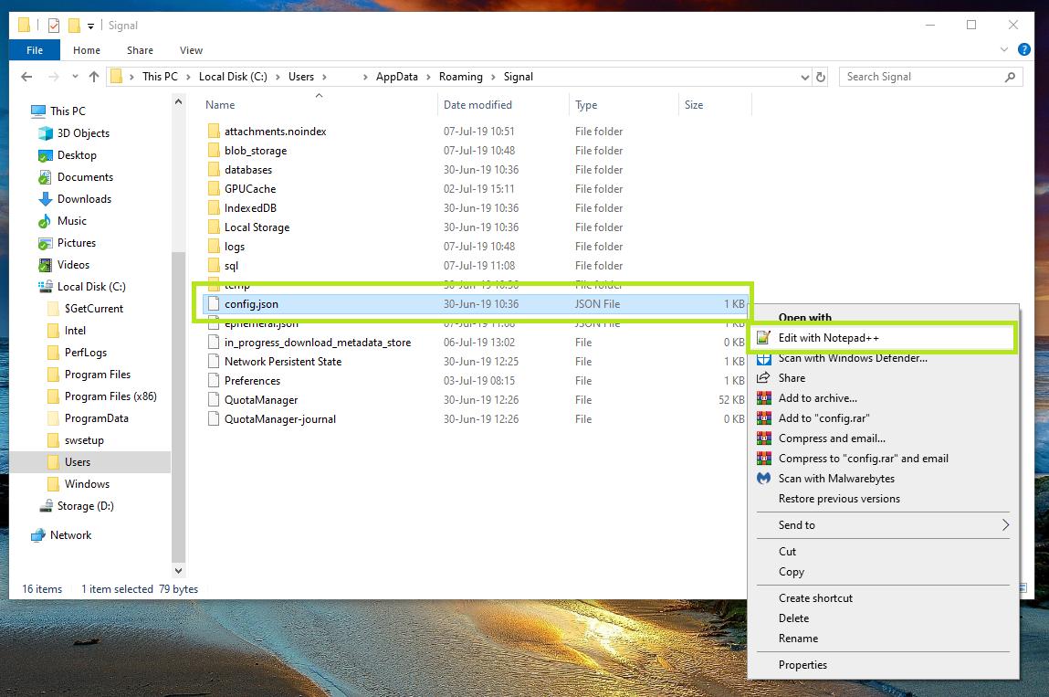 Pulling encrypted Signal messages off of desktop OS' for forensics